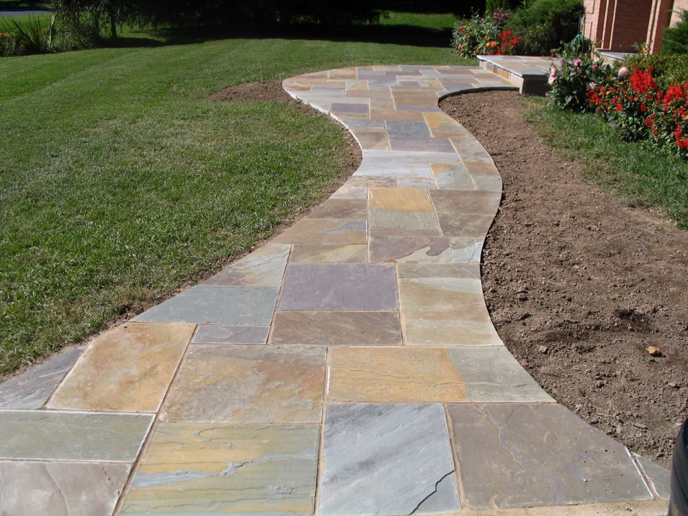 Flagstone Path Designs : Download how to install walkway flagstone free cubebackuper